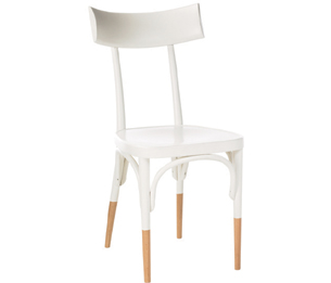 Interesting Trend In Chairs: Chairs With White Bodies And Natural Wood  Feet/hoofs/socks (whatever You Want To Call Them). The Above Image Is From  The Conran ...