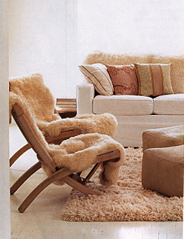 A Perfect Cover For An Imperfect Chair. Sheepskin
